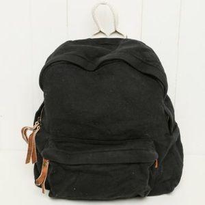 Brandy melville black canvas school backpack